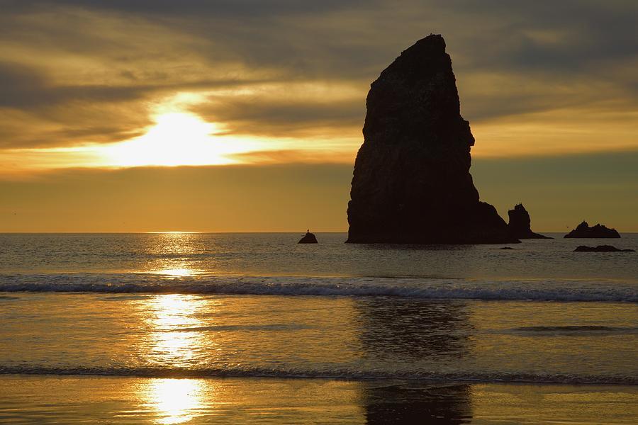 Cannon Beach November Evening by Todd Kreuter