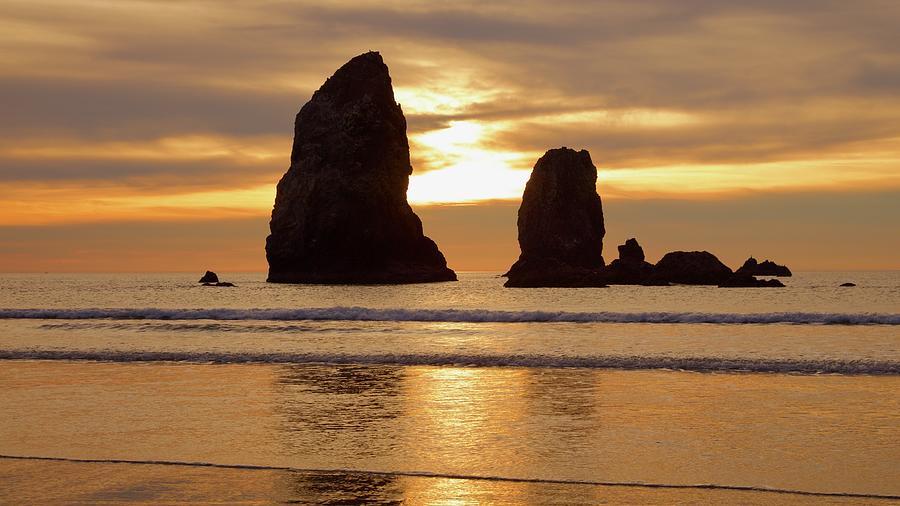 Cannon Beach November Sunset by Todd Kreuter