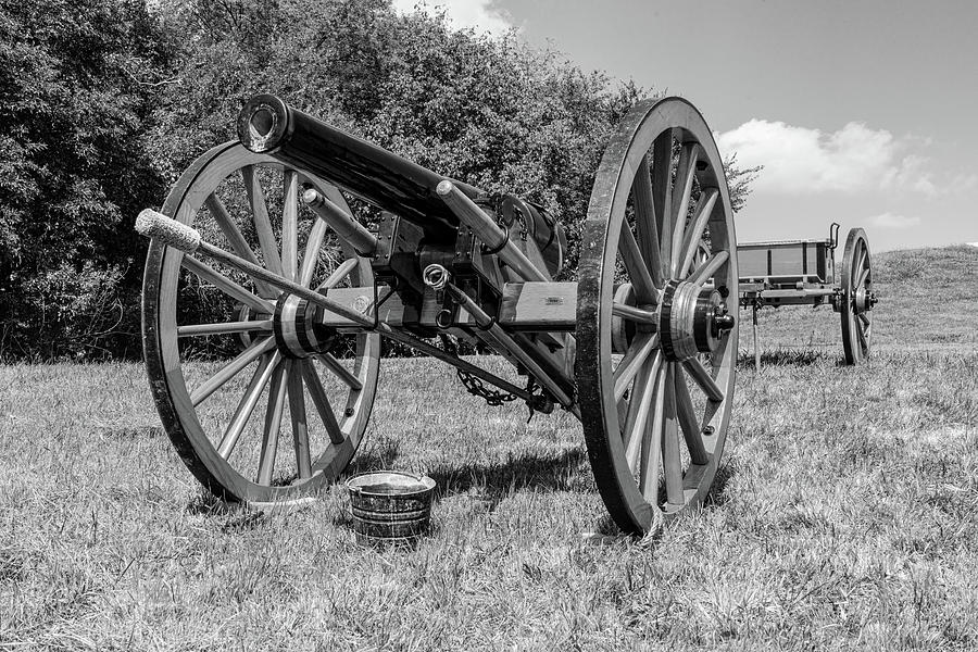 Cannon Photograph - Cannon Black And White by Sharon Popek