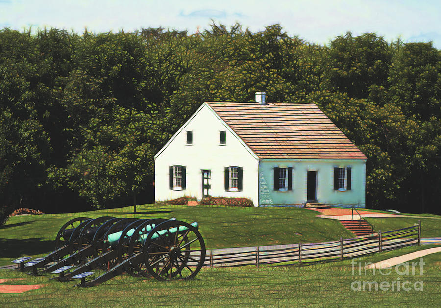 American History Photograph - Cannons At Dunker Church by Patti Whitten