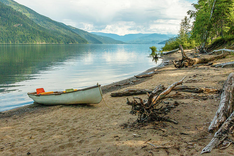 Canoe At Mable Lake by Claude Dalley