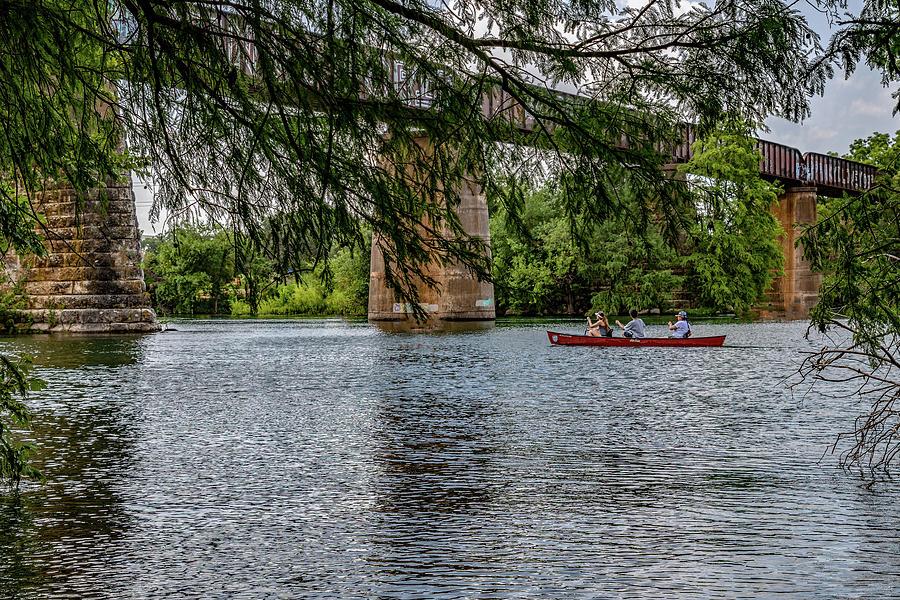 Canoeing Lady Bird Lake by Gaylon Yancy