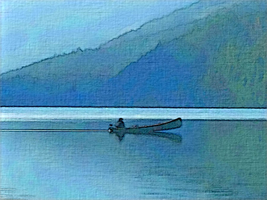 Canoe on Lake by Robert Bissett