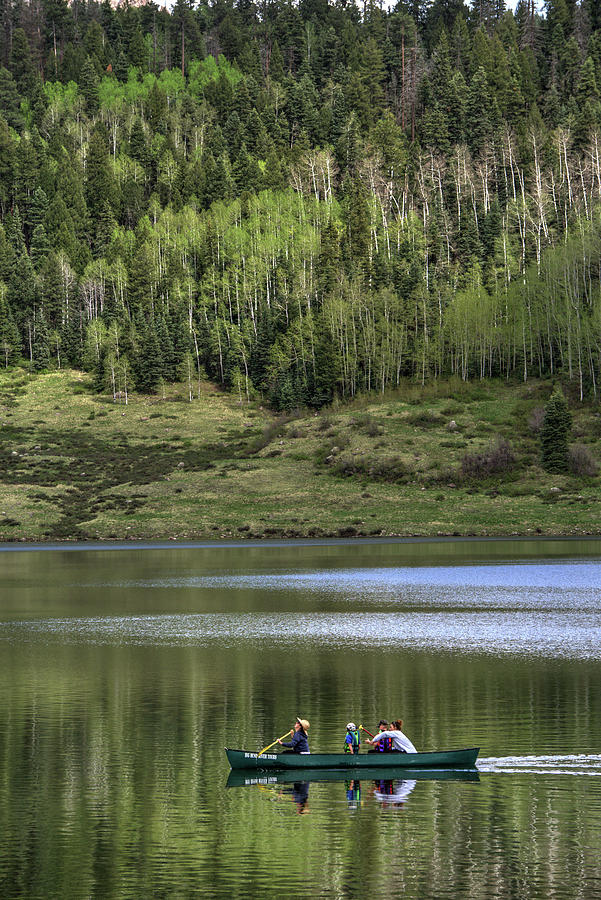 Pagosa Springs Photograph - Canoe on Williams Reservoir by Mark Langford