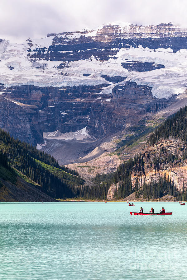 Canoeing Lake Louise by Alma Danison