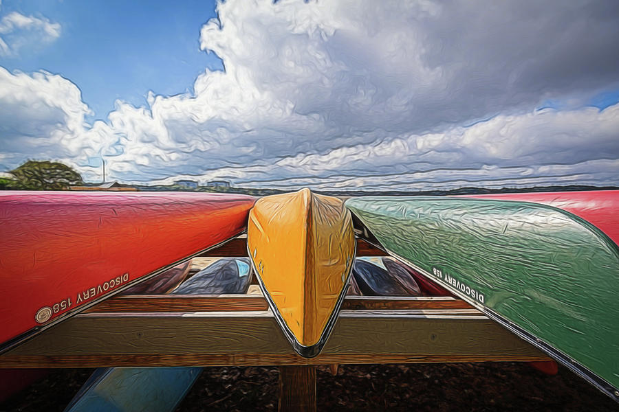 Canoes and Clouds by Wade Brooks