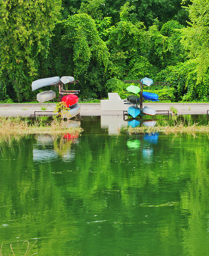 Canoes - Yahara River - Madison by Steven Ralser