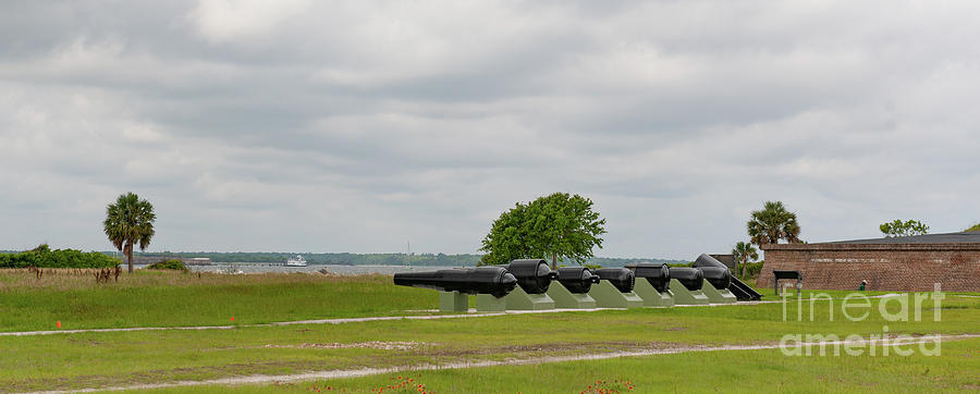 Canon Row - Fort Moultrie Photograph
