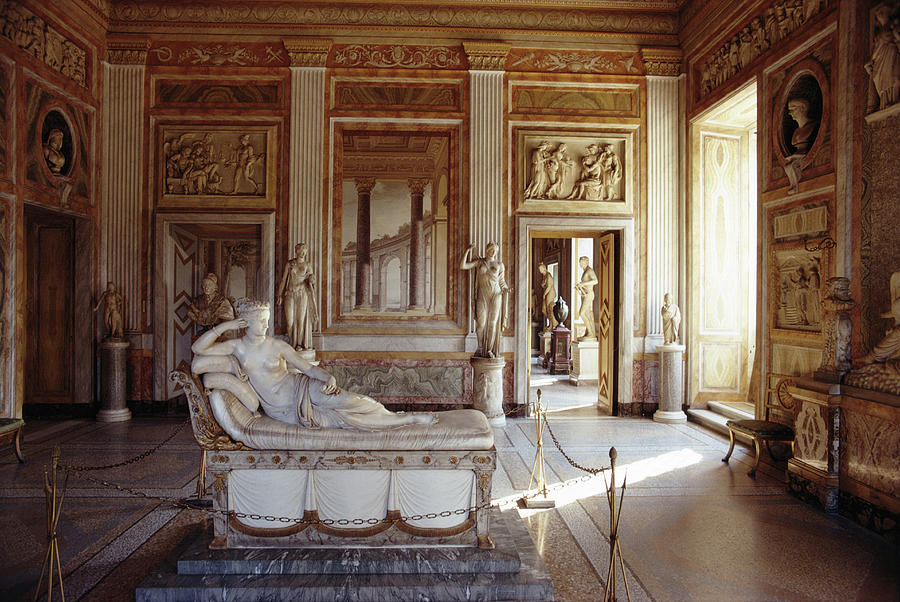 Canova Sculpture Photograph by Slim Aarons