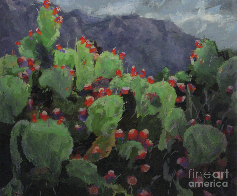 Contemporary Painting - Canyon Cactus by Hilton McLaurin