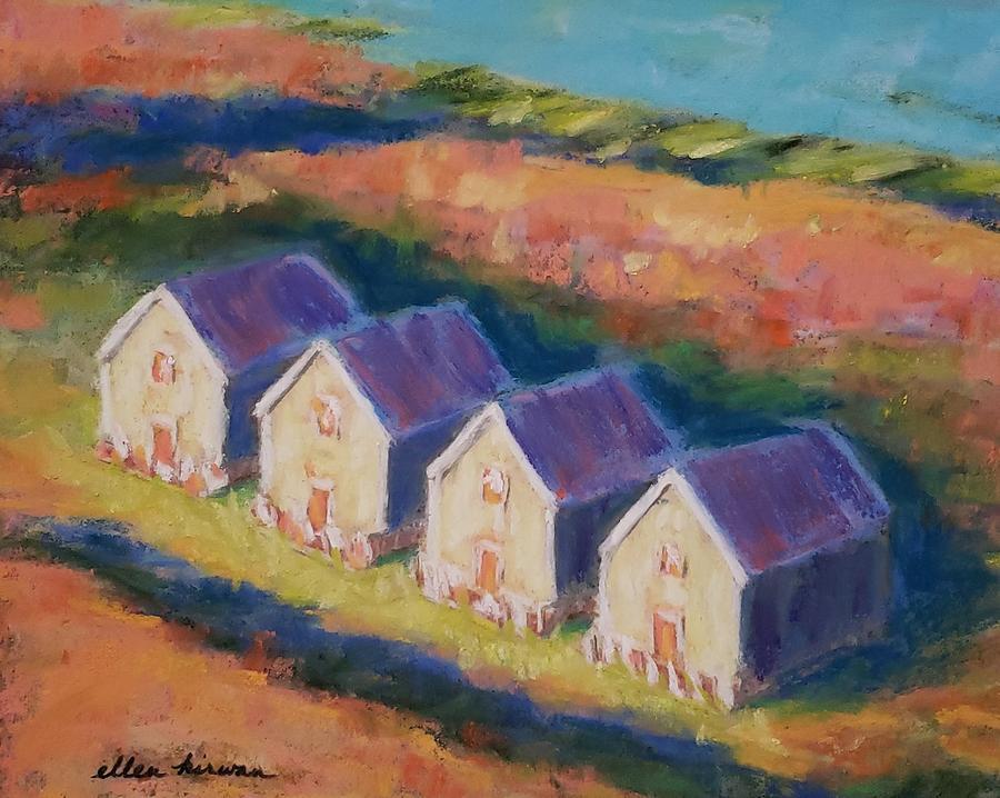 Landscape Pastel - Cape Cod Cottages by Ellen Kirwan