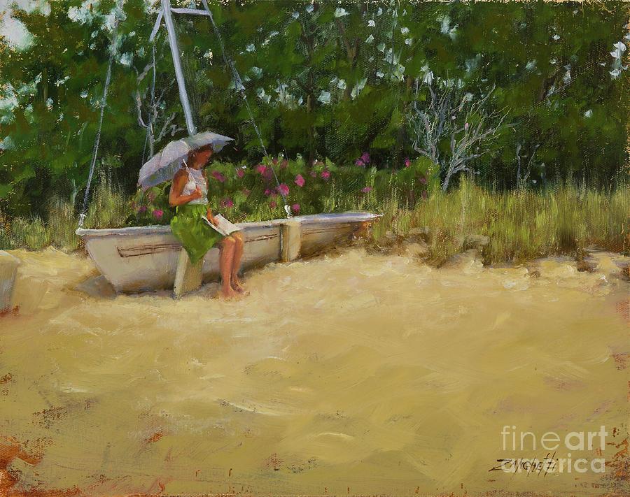 Cape Cod Beach Painting - Cape Cod Weekend by Laura Lee Zanghetti