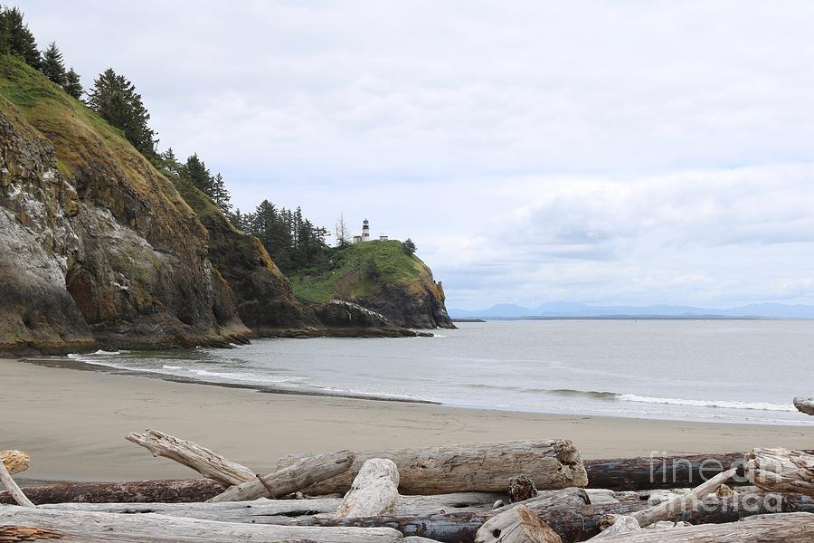 Cape Disappointment with Lighthouse and Beach by Carol Groenen