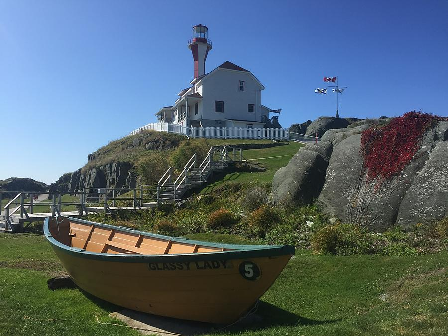 Cape Forchu Lightstation Nova Scotia  by David Matthews