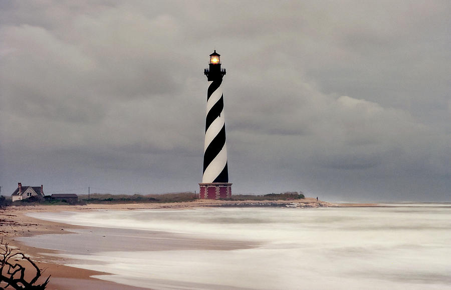 Cape Hatteras Lighthouse In Storm Photograph by Wbritten