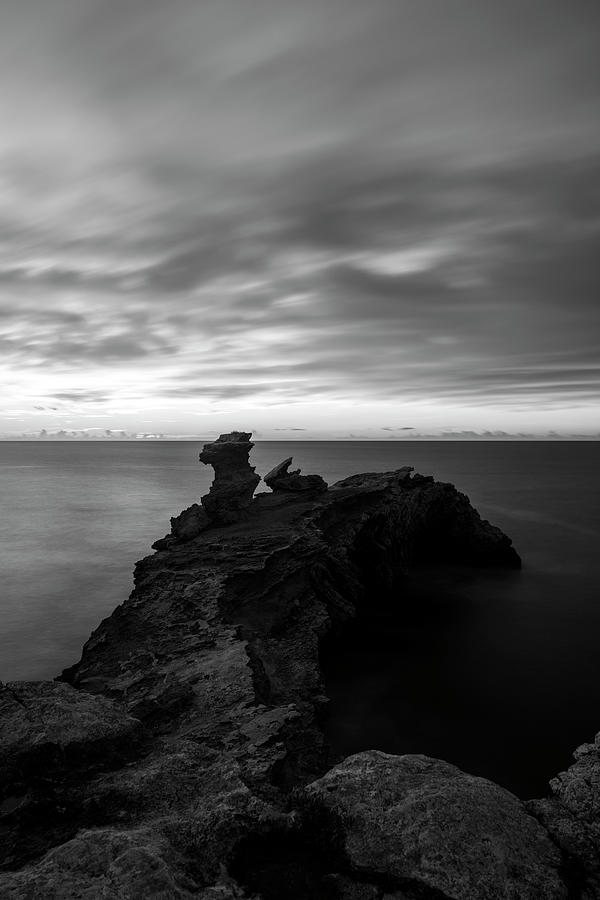 Cape martinet de ibiza in long exposure, Spain by Vicen Photography