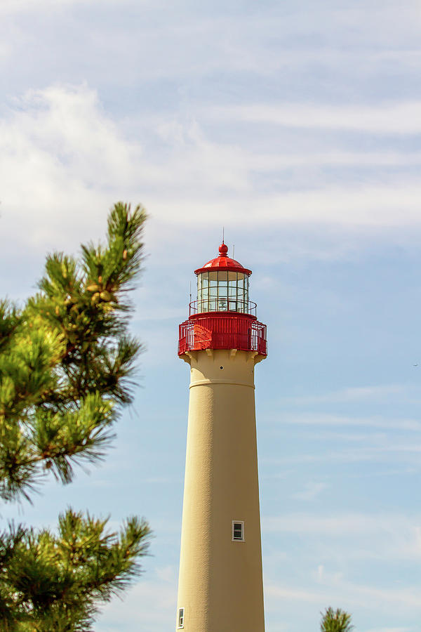 Cape May Lighthouse with copy space by Karen Foley