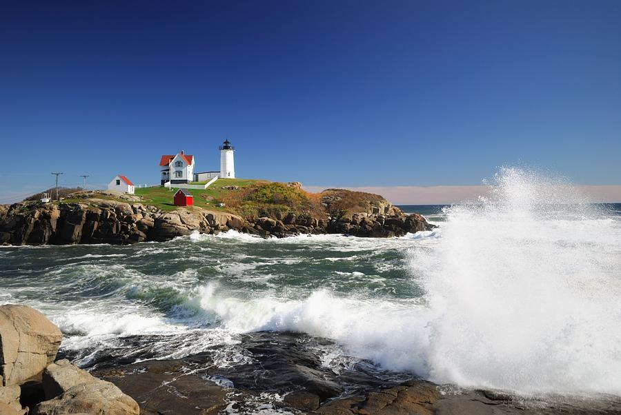 Cape Neddick Maine Photograph by Gmnicholas