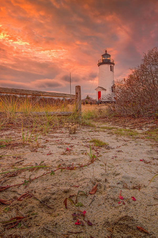 Cape Poge Light in December by Thomas Gaitley