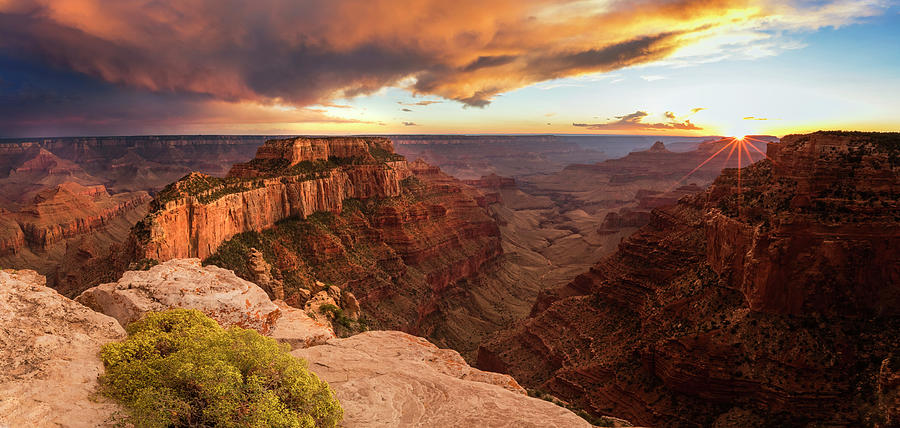 Grand Canyon Photograph - Cape Royal Sunset Panorama by Johnny Adolphson
