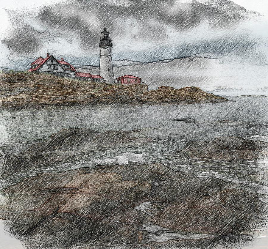 Cape Sketch by Patrick Groleau