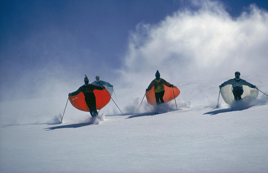 Caped Skiers Photograph by Slim Aarons
