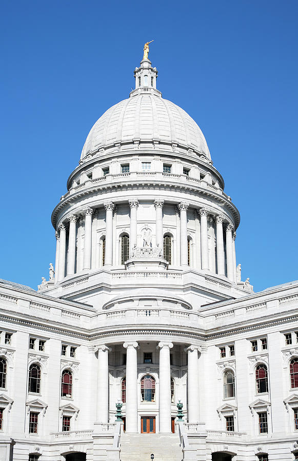 Capital Dome Bright, Blue Sky Photograph by Timhughes