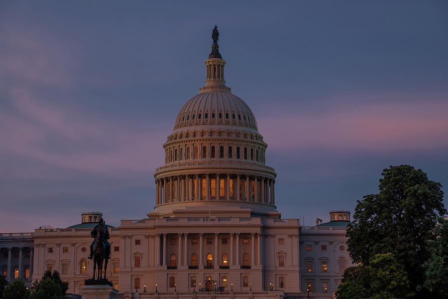 Capitol at Sunset by Lynda Fowler
