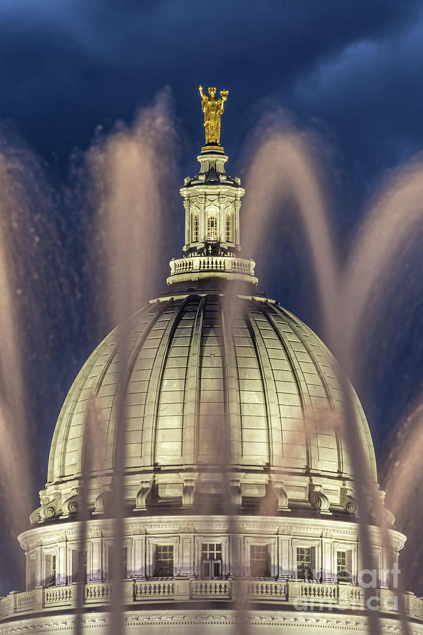 Water Photograph - Dazzling The Dome by Amfmgirl Photography