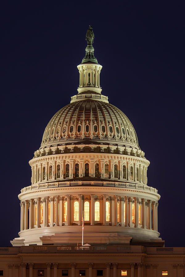 Capitol Dome at Twilight by Lynda Fowler