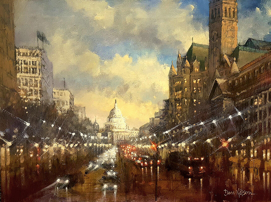 Capitol Evening Painting