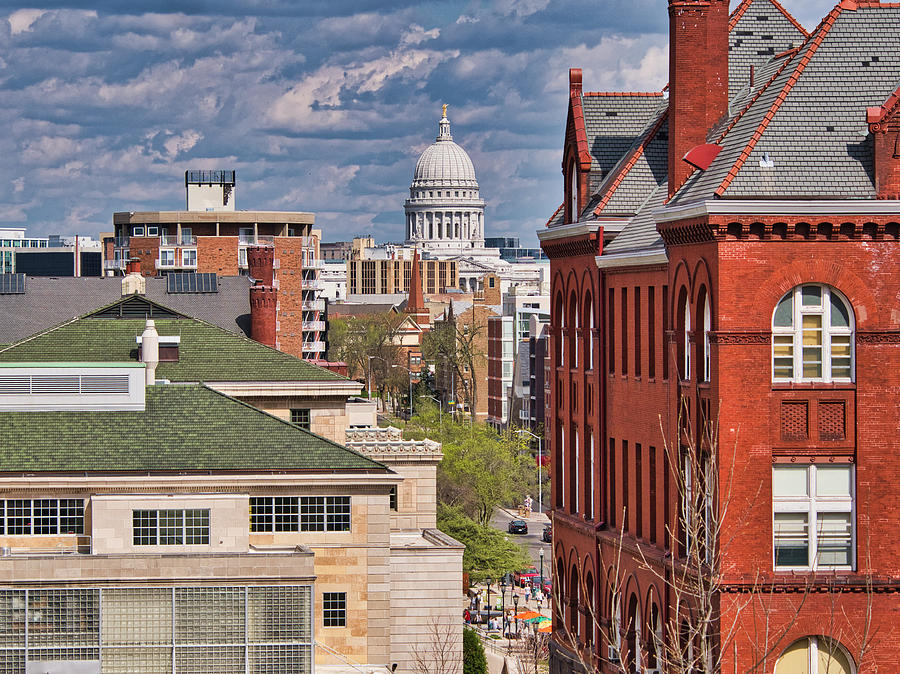Capitol from UW - Madison - Wisconsin by Steven Ralser