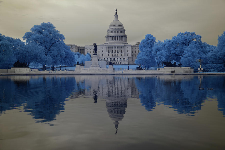 Capitol in Infrared 2 by Lynda Fowler