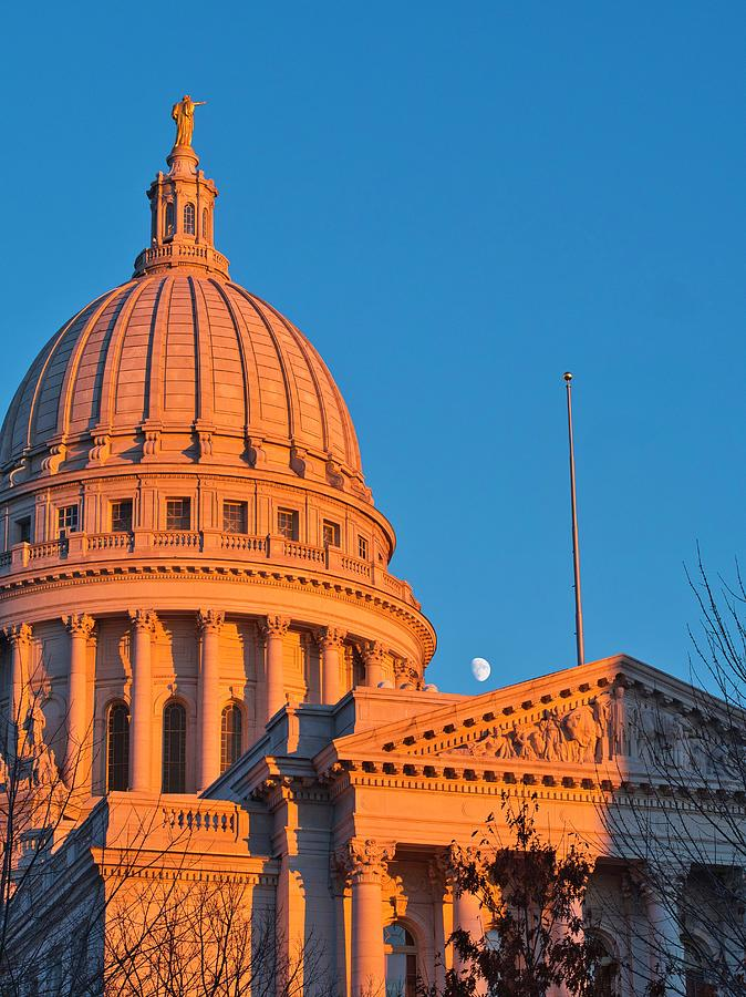 Capitol - Madison - Wisconsin- Sunset 2 by Steven Ralser