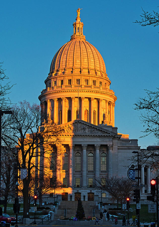 Capitol - Madison - Wisconsin Sunset by Steven Ralser