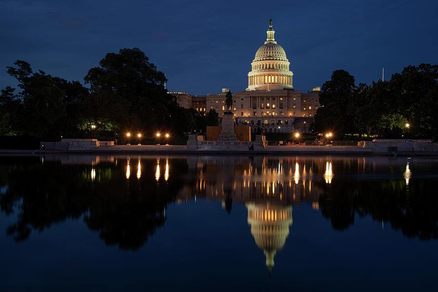 Capitol Reflection at Twilight by Lynda Fowler