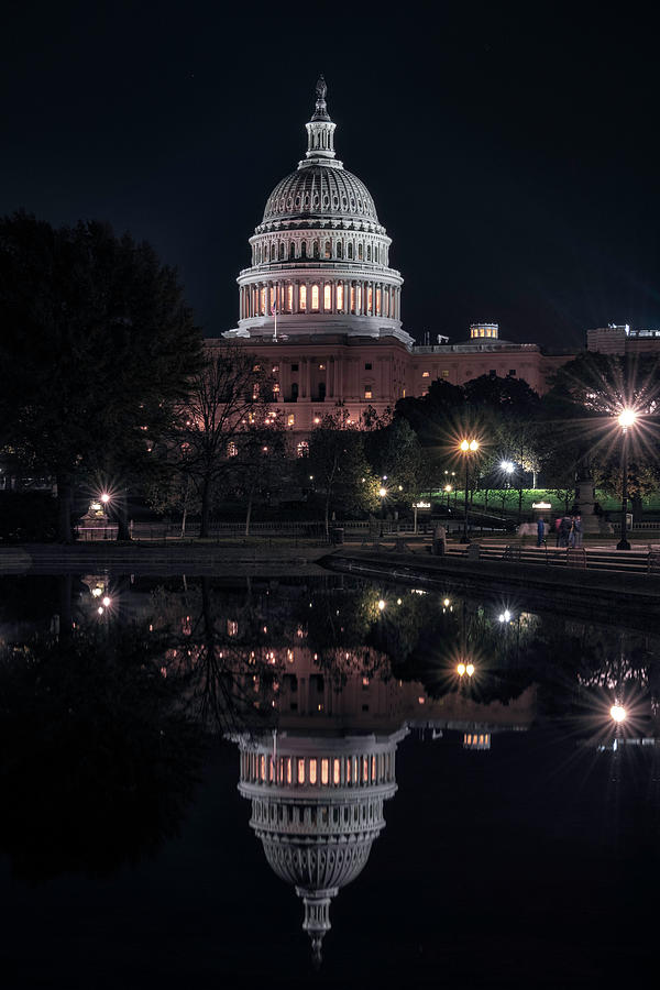 Washington Dc Photograph - Capitol Reflection by Robert Fawcett