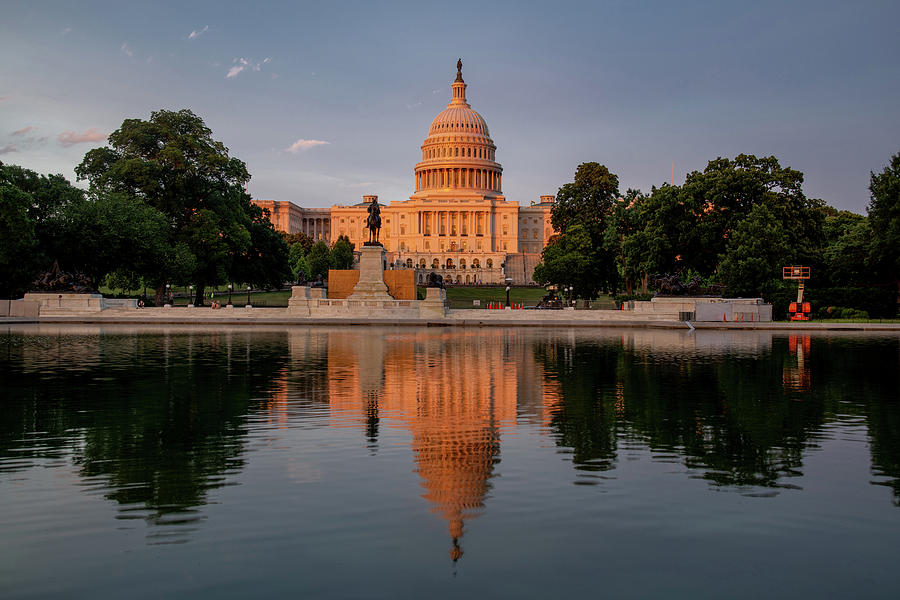 Capitol Sunset Reflection by Lynda Fowler