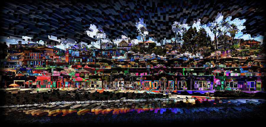 Capitola Beach Abstract by Lisa Malecki