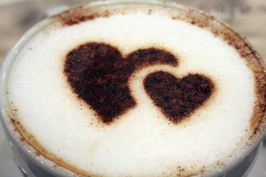 Cappuccino With Heart Photograph by Bob  Balmer Images