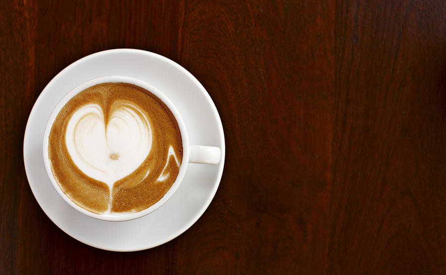 Cappuccino With Love Photograph by Niels Busch