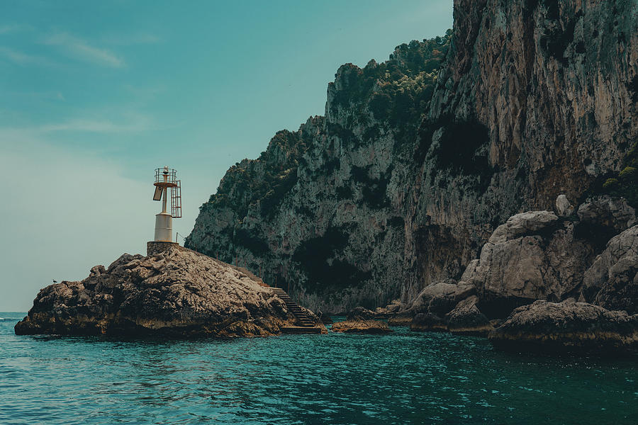 Capri Photograph - Capri Lighthouse by Alex Brisbey
