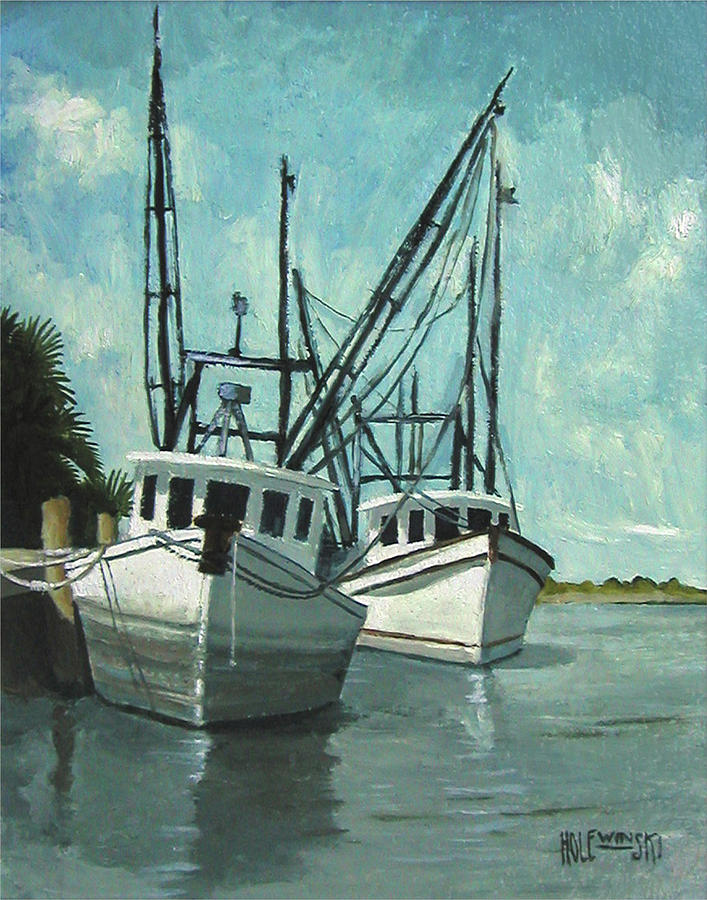 Florida Painting - Captain Fuzz and Henry by Robert Holewinski