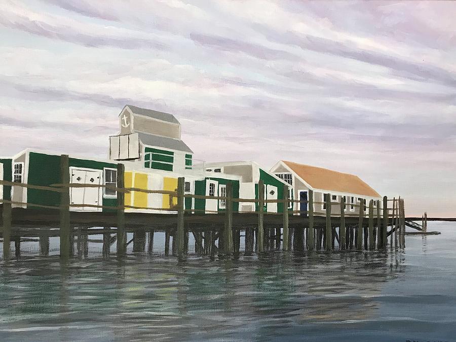 Oil Painting Painting - Captain Jacks High Tide by Derek Macara
