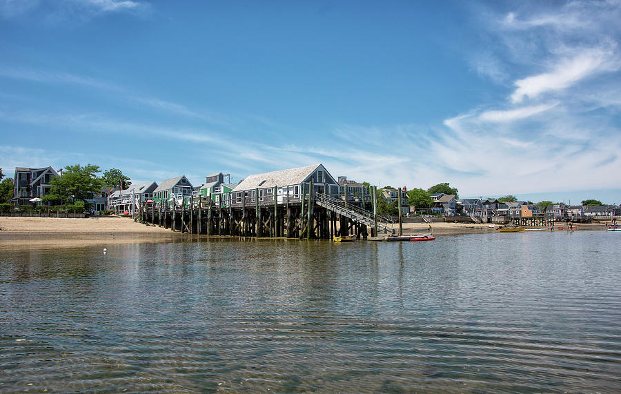 Provincetown Photograph - Captain Jacks Wharf - Provincetown Harbor - Massachusetts by Brendan Reals