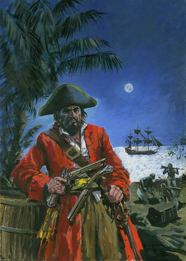 Captain Kidd Painting - Captain Kidd by Graham Coton