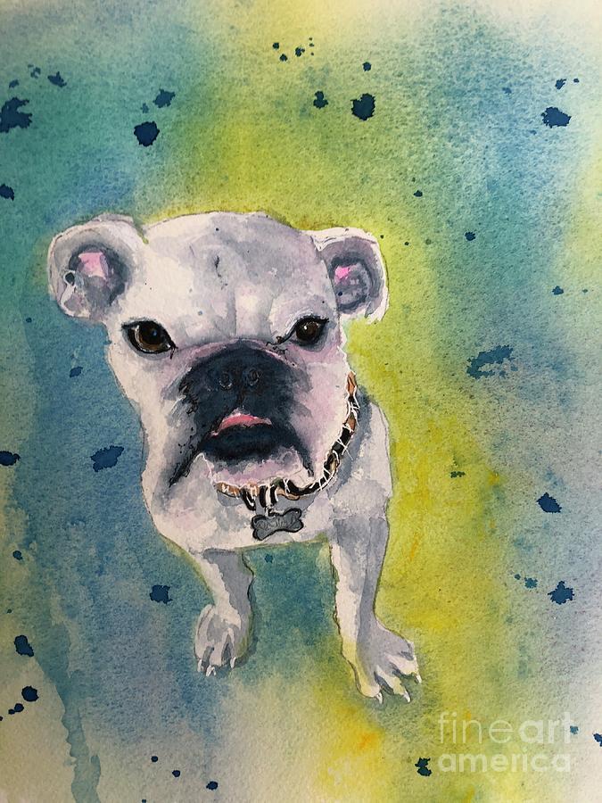 English Bulldog Painting - Captain by Midge Pippel