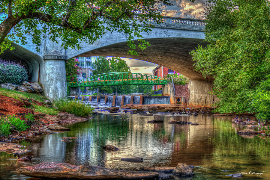 The Captivation Reedy River Falls Park Greenville South Carolina Cityscape Art by Reid Callaway