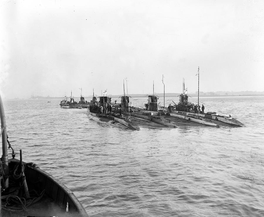 Captured Subs Photograph by J. J. Lambe