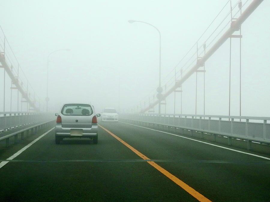 Car Crossing Bridge Photograph by Kurosaki San